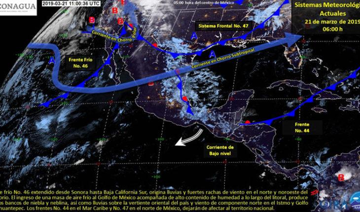 Nublados con potencial de lluvias fuertes por la tarde en el noreste, oriente y sureste del país