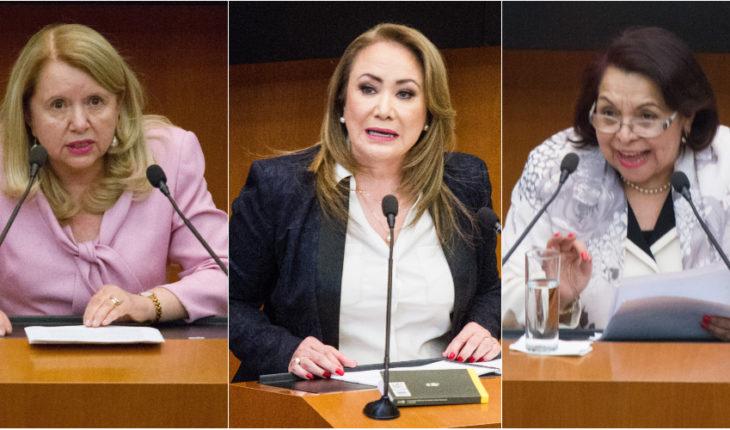 Loretta Ortíz, Yasmín Esquivel y Cecilia Maya, candidatas a ministra de la SCJN.