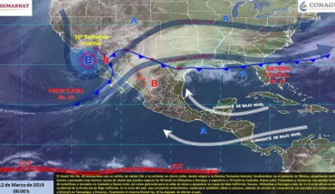 Tenth winter storm favourable rains in the North of Mexico, in the rest of the country remains the hot environment