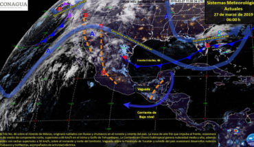 Tormentas fuertes en el noreste y sureste del país, temperaturas calurosas en gran parte de México