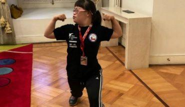 World Champion parataekwondo and in La Moneda is recognized