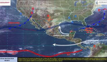 Ambiente caluroso en gran parte del país, vientos fuertes en la Península de Yucatán, norte y oriente de México