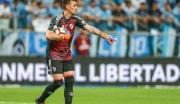 Armani es duda para el duelo de Copa ante Argentino de Merlo