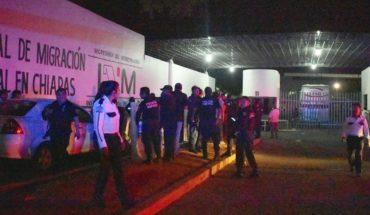 Cientos de migrantes escapan de estación migratoria en Chiapas