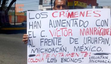 Comuneros de Uruapan, Michoacán piden frenar la inseguridad en la región