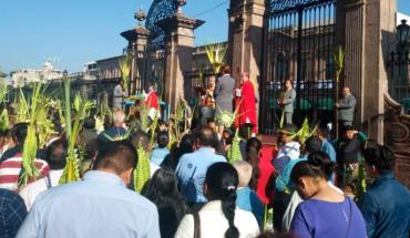 En marcha operativo de Domingo de Ramos en Morelia, Michoacán