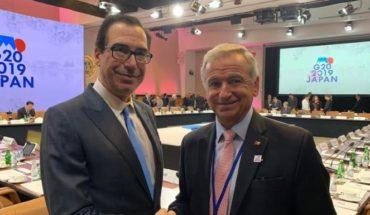 Felipe Larraín se reunió con Steve Mnuchin para aboradar el tratado de doble tributación entre ambos países