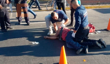 Hombre de la tercera edad queda mal herido al ser atropellado en Zamora, Michoacán