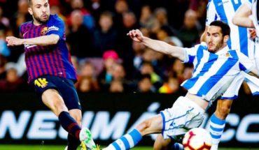 Lenglet y Jordi Alba sorprenden a la Real Sociedad y acercan a Barcelona al título de La Liga
