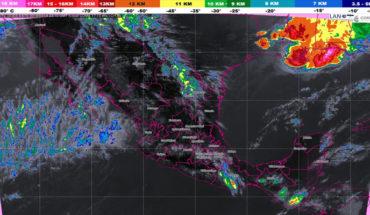 Lluvias en el Golfo de México, tormentas fuertes en el noreste del país