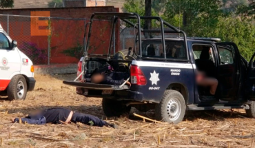 Mueren dos policías y un trabajador en intento de asalto a Bansefi en Tarímbaro, hay más heridos