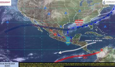 Potencial de lluvias en el Golfo de México y sureste del país, tormentas en Chiapas y Tabasco