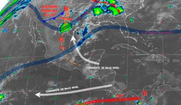 Se prevén tormentas puntuales fuertes en el noreste, oriente y sureste de México