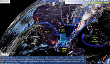 Tormentas fuertes en el Sureste de México, en el resto del país persistirán las temperaturas calurosas