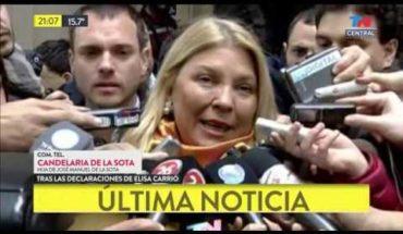 La hija de De La Sota respondió a los dichos de Elisa Carrió