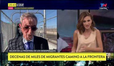 Nelson Castro en la frontera de México y EEUU