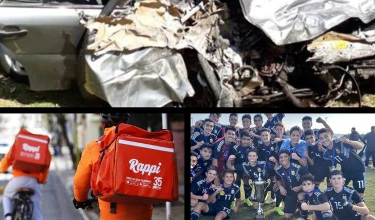 Accidente fatal en Carmen de Areco, un delivery murió atropellado, la Selección Argentina Sub 15 fue campeona y mucho más...