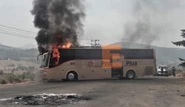 Add two buses and a trailer burned during protests in Angahuan, Michoacán
