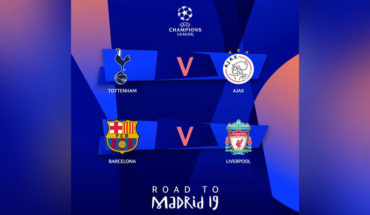 Así se jugarán las semifinales de la Champions