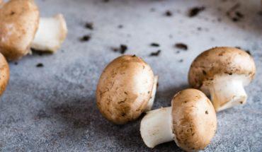 Autumn table: mushrooms, sweet potatoes, walnuts and tangerines
