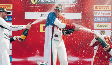 Benjamin Hites accomplished feat at Sebring: wins and is leader of the Ferrari Challenge
