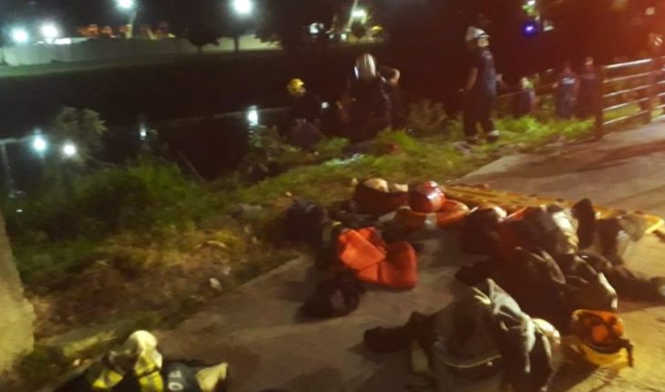 Car fell into the Creek: they rescued a man but they are looking to 8-year-old