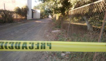 Kill shot a man in the colonia Santa Rosa of Uruapan, Michoacán