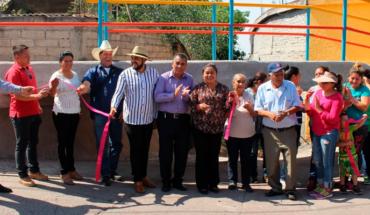 Manuel Villalongín Government Puruándiro opens bridge in holding