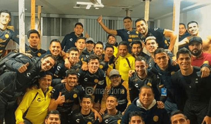 Maradona dedicated the Golden triumph to Nicolas Maduro