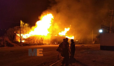 Of winery of wood and plastic in the Industrial City of Morelia, arson damage