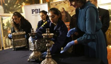 PDI returned to the Museum of Colonial art pieces seized Raúl Schüler