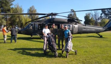 Piñera, 9 hole and the helicopter of the FACH
