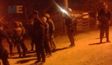 Police repelled attack with bullets in the dam of the monarchs of Morelia, Michoacan colony, there is no