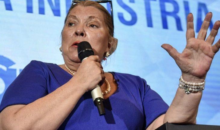 """Thank God died, de la Sota"" outburst of Elisa Carrió"