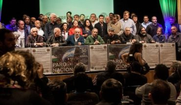 The guilds that stop Tuesday 30 will be mobilized to Plaza de Mayo