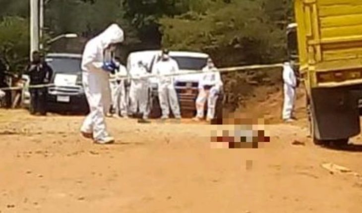 They found the corpse of a man in Zinapecuaro, Michoacan