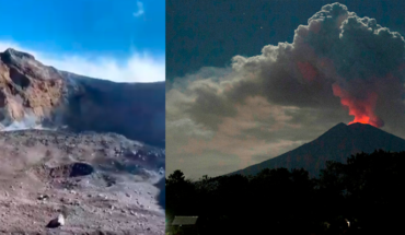 Tourists risk and take a selfi in the crater of a volcano little until you make rash