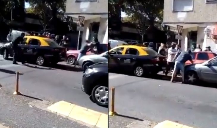 Video: Fierce feud between taxi driver and conductor in Villa Urquiza