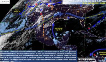 Vientos fuertes en el noroeste y norte de México, en el resto del país se esperan temperaturas calurosas