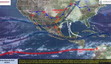 Ambiente muy caluroso en gran parte de México, tormentas fuertes en el noreste del país