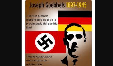 Despiden a funcionario de INJUVE por tuit sobre Goebbels