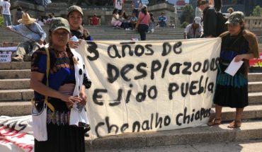 Desplazados de Chenalhó exigen a AMLO justicia para volver a casa