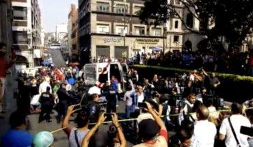 Disparan a manifestantes en el Zócalo de Cuernavaca