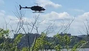 Dos heridos al caer helicóptero en el río Hudson de Nueva York