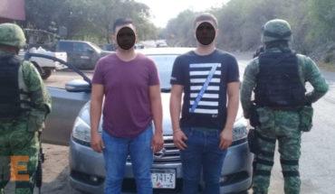 Dos sujetos que poseían cerca de 250 mil pesos en Droga: Capturados por Militares