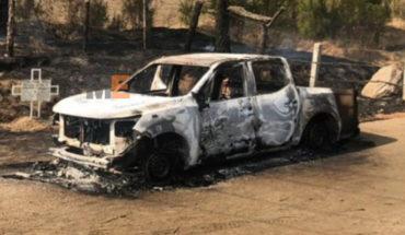 En Uruapan, encuentran cinco cadáveres calcinados dentro de una camioneta quemada