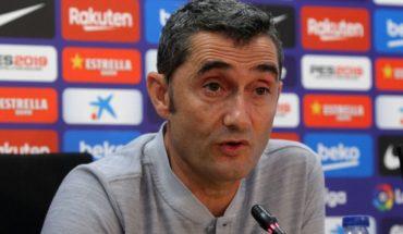"""Ernesto Valverde: """"Cuando saqué a Vidal ya estaba cansado porque lo da todo"""""""