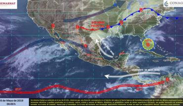 Lluvias en el noreste, centro, oriente y sureste de México, en el resto del país continuarán las temperaturas calurosas