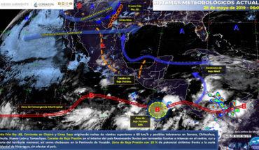 Potencial de tormentas en el sur y centro de México