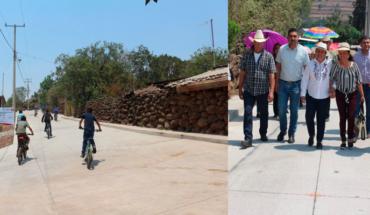 Presidenta de Puruándiro inaugura pavimentación en la comunidad de El Pilar